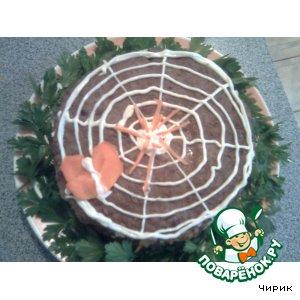 """Печeночный торт """"Паутинка"""""""