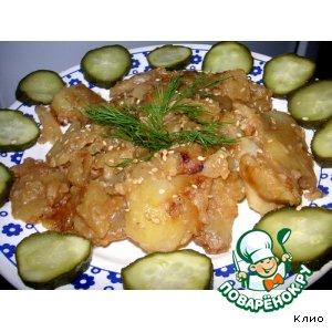 Пряный картофель с кунжутом