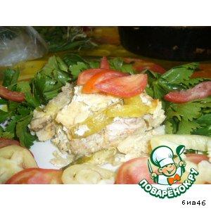 Запеканка из форели с овощами