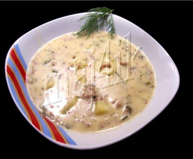 """Суп сливочно-сырный с фаршем """"Объеденье"""""""