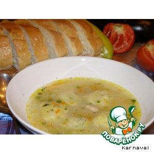 Куриный суп с лимонными клецками
