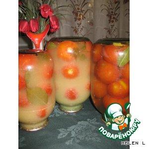 Консервированные помидоры в горчице