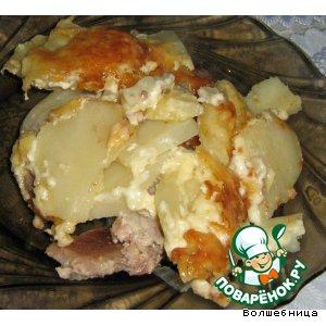 Мясо с картошкой по-французки