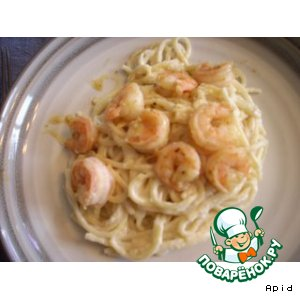 Shrimp linguini