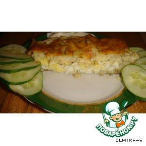 Рулет картофельный с яйцами