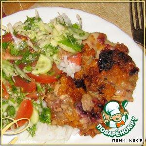 Куриное филе в смородиновом маринаде