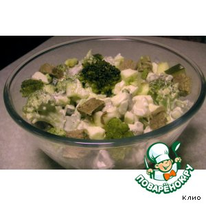 Салат из маринованной брокколи с мясом