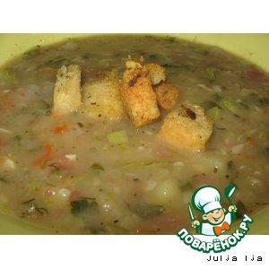 Суп-пюре с кабачками и фасолью