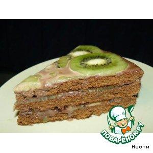 Торт с киви