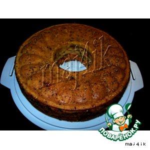 Сырный пирог с печенью и овощами