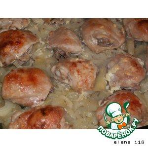"""Курица с картофелем и луком """"Аппетитная"""""""