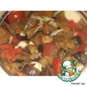 Овощи с грибами в горшочке