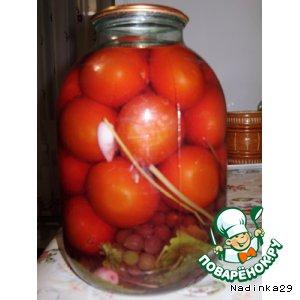 Маринованые помидоры с виноградом
