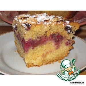 «Хрустящий» ягодный кекс