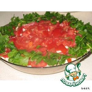Легкий салат с крекером
