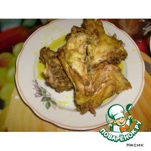 Куриные шейки в кукурме