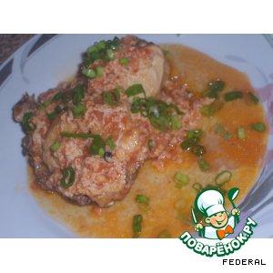 Чихирта из курицы, с помидорами и яйцом