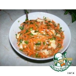 Салат с соевой спаржей