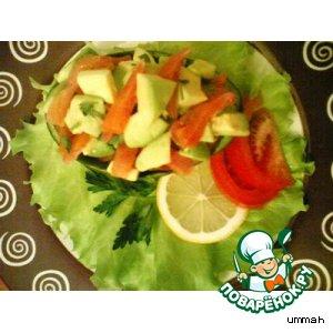 Салат из авокадо и форели
