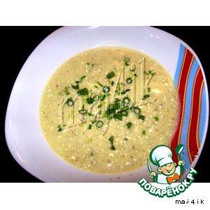 Крем-суп из цуккини со сливочным сыром