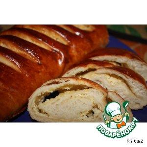 Сырный рулет-хлеб