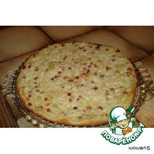 Эльзасский луковый пирог