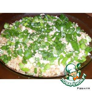 Куриный салатик с грецкими орешками