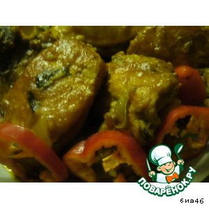 Курочка в пряном луково-перечном соусе