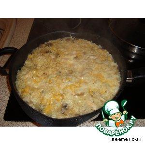"""Рис """"Любимый"""" с куриными грудками и грибами"""