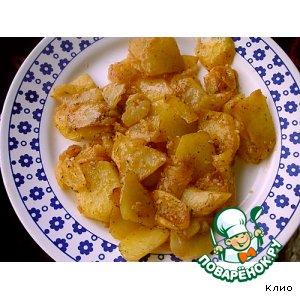 Картофель в кунжуте и соусе