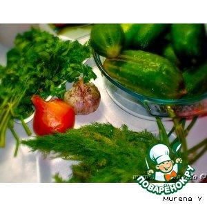 Салат из переросших огурцов с луком