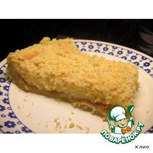 Кремовый яблочный пирог