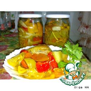Салат осенний с зелеными помидорами