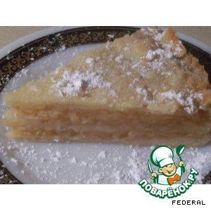Класический болгарский пирог с яблоками