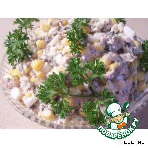 Салат с морской капустой и тунцом