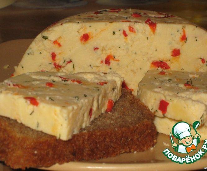 Твердый сыр с перцем и укропом