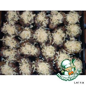 Запечeнные отбивные с грибами и сыром
