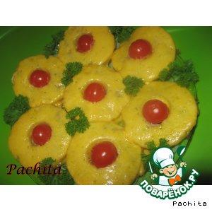 Мясные оладушки с ананасом
