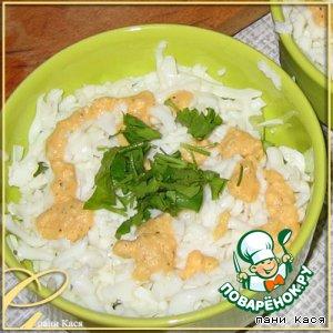 Простенький салат с яичным соусом