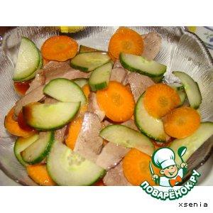 Салат из утиной грудки
