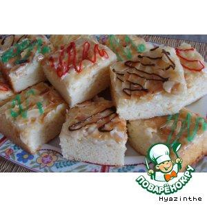 Сливочный пирог с миндалем