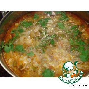 Вегетарианский овощной суп с грибами