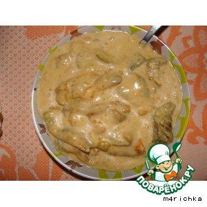 Болгарский перец в сметанном соусе