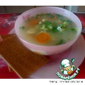 Суп с сыром и брокколи
