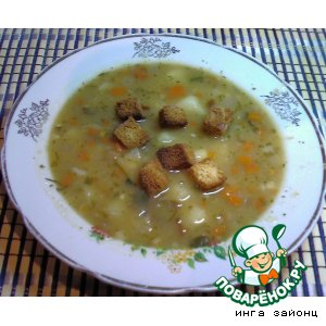 Суп гороховый быстрый