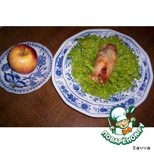 "Курица с яблоками ""Молодильная курочка"""