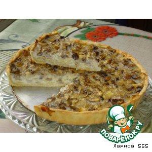 Пирог с грибами «Осенний»