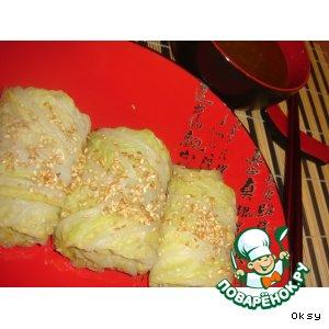 Китайские конвертики с курицей и соусом