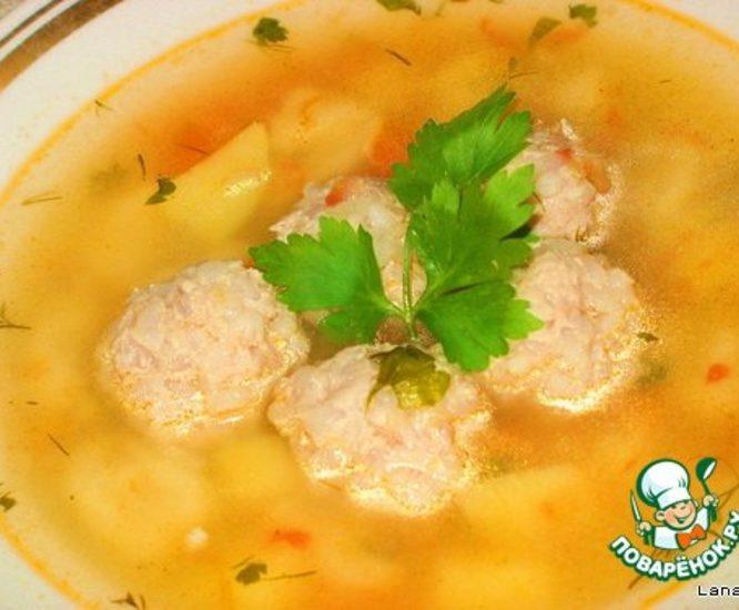 Мой суп с галушками и тефтелями