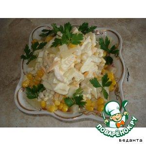 Кальмары с ананасами